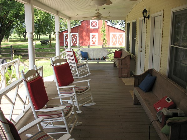 Side porch view