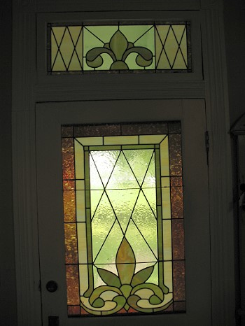 Front door glass